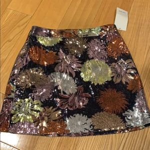 Zara mini skirt sequin. NWT!